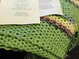 Jackie's prayer shawl