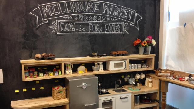Millhouse Market offers opportunities for pretend play.