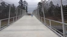 IMAGE: Destination: Pedestrian bridge over Interstate 40