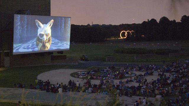 The museum offers a mix of movies each summer outside. Courtesy: N.C. Museum of Art