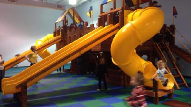 The indoor play room in Raleigh is open weekdays.