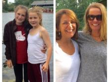 Amanda and her younger daughter visit old friends in Boston