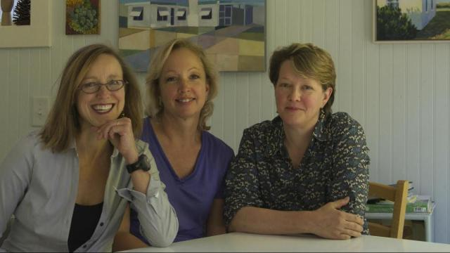 Liisa Ogburn, left, with friends Helen and Virginia.