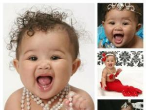 Second place winner in the 0 to 12 month category in Go Ask Mom's Cutest Baby Contest.