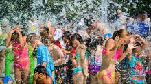 Grand opening of Fuquay-Varina's splash pad