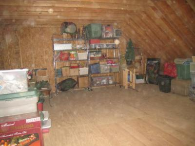 Organized attic