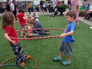 Kids and parents danced, sang and played at the Go Ask Mom event at North Hills Saturday, Sept. 12, 2015.