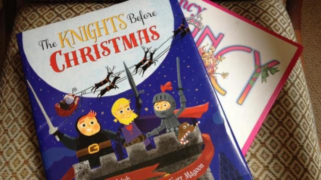 Authors of The Knights Before Christmas, Fancy Nancy headed to Quail Ridge Books in Raleigh.