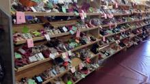 Shoes for sale at last spring's Kidz Stuff Consignment Sale