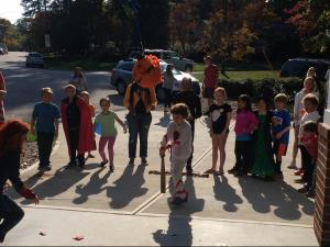 Julia holds a big annual Halloween party - a tradition for her family of three.