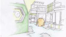 """Planned """"indoor hive"""" at Kidzu Children's Museum"""