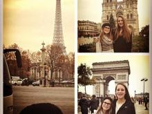 Amanda's daughters in Paris