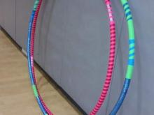 Handmade hula hoops from Pickle Mamas