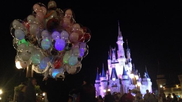 Getting ready for fireworks at the Magic Kingdom