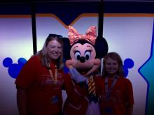 Lori Potter, Disney travel agent, with a couple of her favorite people