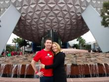 Brian Bowman with wife Diana at Epcot in December