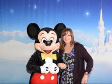 Andrea Updyke with Mickey