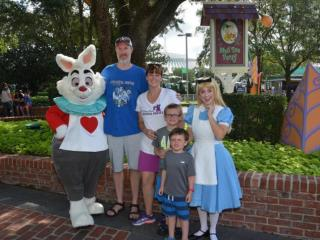 Andrea Updyke and family at Magic Kingdom