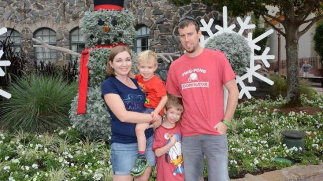 Courtney Licklider with her family at Disney World