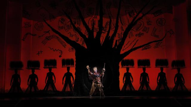 The Tree of Life from THE LION KING National Tour.  Copyright: Disney.  Photo Credit:  Joan Marcus.