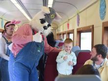 Easter Bunny Express at the N.C. Transportation Museum