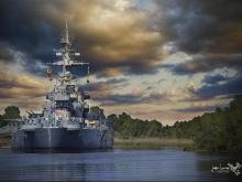 The historic battleship in Wilmington, N.C., will celebrate the 75th anniversary of the battleship's commissioning on April 9.