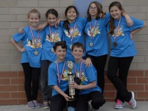 This Odyssey of the Mind team from Sycamore Creek Elementary School is headed to the world championship in May.