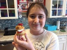 Chef Hannah stirs up a Mother's Day treat at the Flour Power Kids Cooking Studio kitchen.