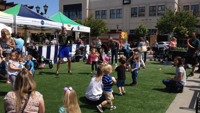 Kids had a blast with music, games, sports, crafts and more at Go Ask Mom event at North Hills on May 16.