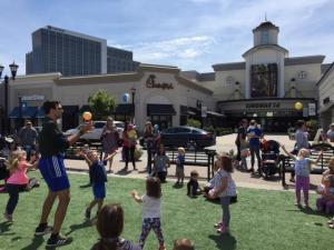 Kids had a blast with games, crafts, music, trucks and more at Go Ask Mom event at North Hills on May 16.
