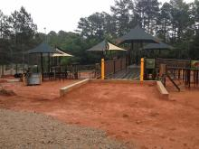 The massive playground at Laurel Hills Park in north Raleigh is designed for children of all abilities. It is slated to open in fall 2016.