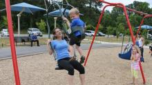 Parent-child swing in Knightdale