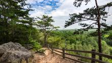IMAGE:  Occoneechee Mountain State Natural Area offers scenic views, safe distancing