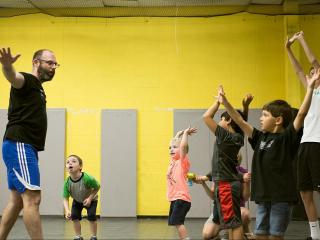 Shelley leads a class for Oak City Soccer, a Cary-based program for kids with special needs.