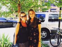 Amanda Lamb with her older daughter