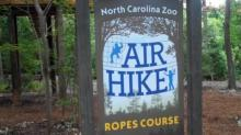 Air Hike at the N.C. Zoo