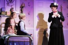 Riley Rose Campbell, Micah Boan and Kara Lindsay star in the N.C. Theatre's performance of Mary Poppins. Credit: Curtis Brown