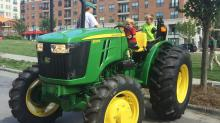 IMAGES: Tractors, bubbles at Midtown event