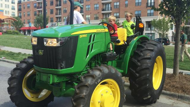 touch a tractor