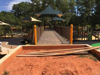 The new playground at Laurel Hills Park in Raleigh is expected to open in November.