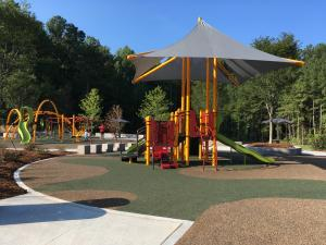 The park at 9725 Penny Rd., Cary, includes a playground, sprayground and dog park.