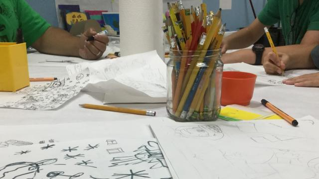 Afterschool drawing class at Bull City Craft