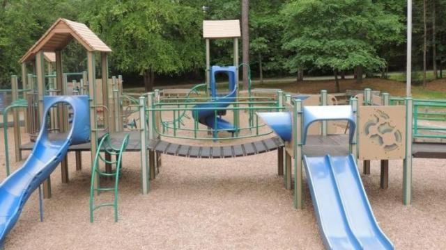 The playground is closed for a renovation. It's scheduled to reopen in October. Courtesy: Facebook