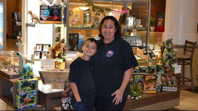 Angeline McInerny and son of Treasure Quest Mining