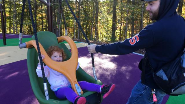 Hundreds came out for the opening of Sassafras All Children's Playground, Laurel Hills Park, 3808 Edwards Mill Rd., Raleigh.
