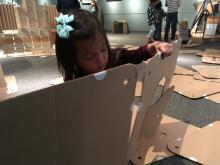 The pop-up exhibit, which runs through Nov. 20, features all kinds of ways for kids - and families - to make and create.