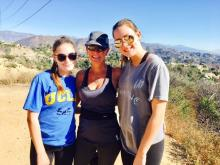 Amanda  Lamb with her daughters on vacation.