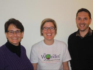 Julie Yarnell, Katie Stoudemire and Andrew Torlage bring science and nature programs to kids at UNC Children's Hospital through Wonder Connection.