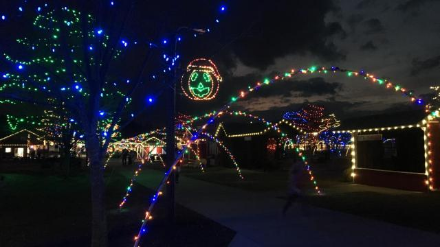 the youngsville farms annual christmas celebration runs nightly through dec