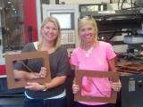 Rhonda Dunn and Kendall Cobb created a reusable gingerbread house